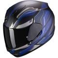 Мотошлем EXO-390 BOOST, цвет Черный Матовый/Синий Матовый/Серый, Размер M