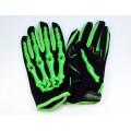 Перчатки текстильные PRO BIKER Skul зеленыен, M