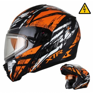 Шлем Снегоходный XTR MODE1 Tornado оранжевый с электростеклом p.M