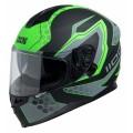 Шлем IXS HX 1100  черн,зелен,сер. мат р.S