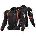 Текстильная куртка SHIMA MESH PRO BLACK/RED p.XL