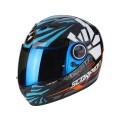Шлем SCORPION EXO-490 ROK, цвет Черный/Синий/Оранжевый, Размер M