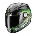 Шлем SCORPION EXO-1000 AIR DARKNESS, цвет Черный/Зеленый, Размер 2XL