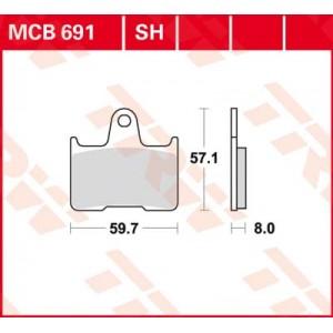 Колодки задние - GSXR600