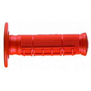 Ariete, 02621/A-AR, Ручки руля кроссовые HALF WAFFLE оранжевые