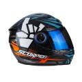 Шлем SCORPION EXO-490 ROK, цвет Черный/Синий/Оранжевый, Размер L