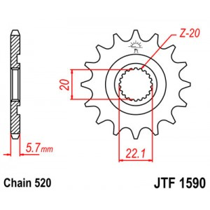JTF 1590.13SC Звезда