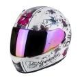 Шлем SCORPION EXO-390 CHICA, цвет Белый Перламутровый/Черный, Размер XS