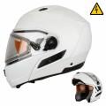 Шлем Снегоходный XTR MODE1 белый с электро стеклом р.L