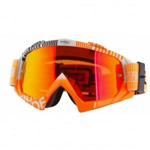 Маска кроссовая ONEAL B-Flex ETR белая/оранжевая/радиум
