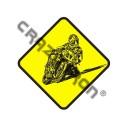 Наклейка на авто мотостикер №14