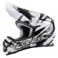 Шлем кроссовый ONEAL 3Series SHOCKER чёрно-белый p.M
