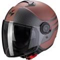 Шлем SCORPION CITY MODA, цвет Темно-Коричневый Матовый/Черный Карбон Размер S