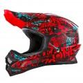 Шлем кроссовый ONEAL 3SERIES ATTACK красный p.М