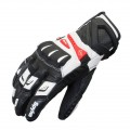 Перчатки кожаные RR41, черный/белый, Размер XL
