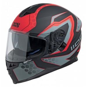 Шлем IXS HX 1100  черн,красн,сер. мат р.XL