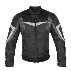 Мотокуртка STONER текстиль, цвет Черный/Серый р.S
