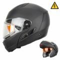 Шлем Снегоходный XTR MODE1 черн.мат.с электро стеклом р.М