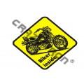 Наклейка на авто мотостикер №9