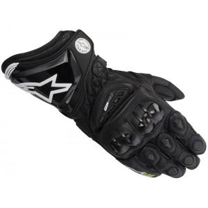 Перчатки кожаные длинные черные Alpinestars GP PRO, S