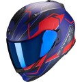 Шлем SCORPION EXO-510 AIR BALT, цвет Синий Матовый/Красный Матовый, Размер M