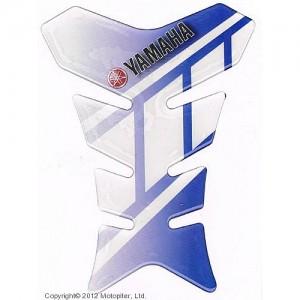 Наклейка на бак Yamaha синяя