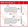 Колодки дисковые (MCB781SH)