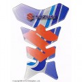 Наклейка на бак Suzuki синяя