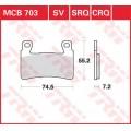 Колодки передние - CBR600 99-10/CBR 900 98-01/CBR 954 02-03