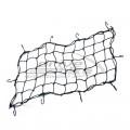 Багажная сетка 38x76 см, 6 крючков, цвет Черный