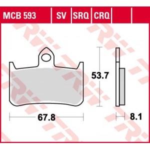 Колодки передние - CB1000 -03