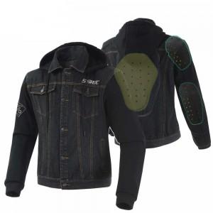 Текстильная куртка черная р.L