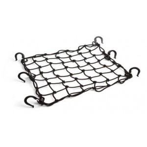 Багажная сетка 38x38 см, 6 крючков, цвет Черный