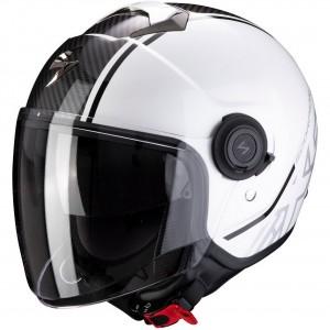 Мотошлем CITY AVENUE, цвет Белый/Черный/Карбон, Размер M