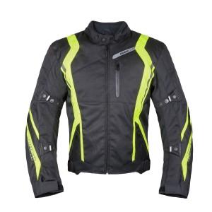 Мотокуртка STANCE текстиль, цвет Черный/Желтый, Р.XL