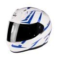 Шлем SCORPION EXO-390 HAWK, цвет Белый Перламутровый/Синий, Размер М