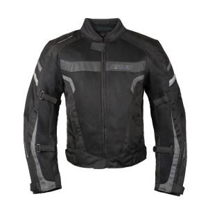 Мотокуртка RUSH MESH текстиль, цвет Черный/Серый р.L