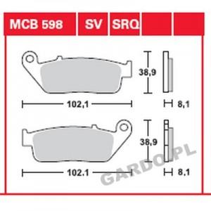 Колодки передние - CB400/СB600