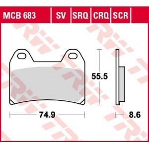 Колодки передние - XJR 1200 Brembo
