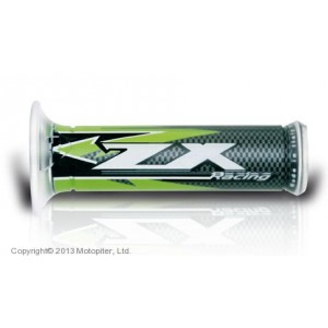 HARRIS, 01687-ZX, Ручки руля HARRI'S ZX GREEN пара,открытые