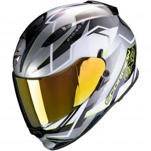 Мотошлем EXO-510 AIR BALT, цвет Серый Матовый/Белый Матовый/Желтый, Размер M