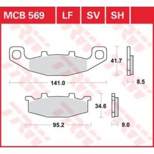 Колодки передние - KLE500