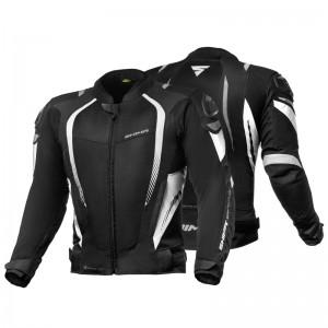 Текстильная куртка SHIMA MESH PRO BLACK/WHITE p.L