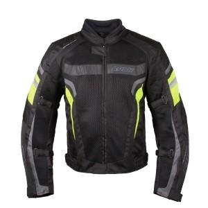 Мотокуртка RUSH MESH текстиль, цвет Черный/Серый/Желтый р.M