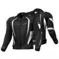 Текстильная куртка SHIMA MESH PRO BLACK/WHITE p.XL