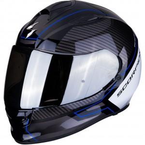 Мотошлем EXO-510 AIR FRAME, цвет Черный Карбон/Синий/Белый, Размер M